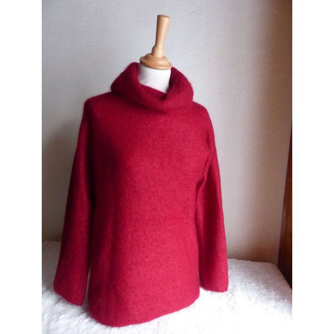 Pull col Boule rubis